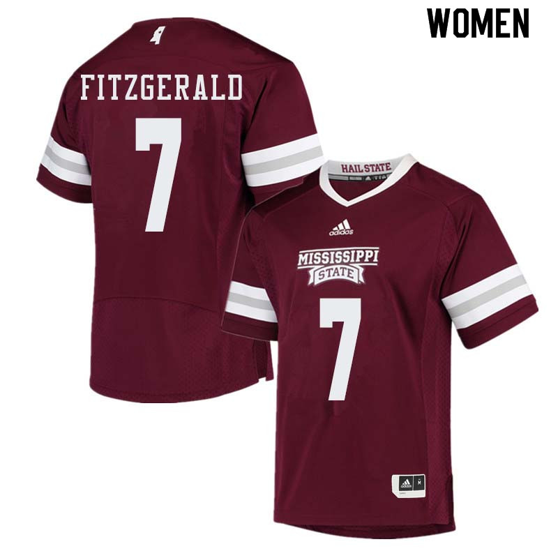 Women #7 Nick Fitzgerald Mississippi State Bulldogs College Football Jerseys Sale-Maroon