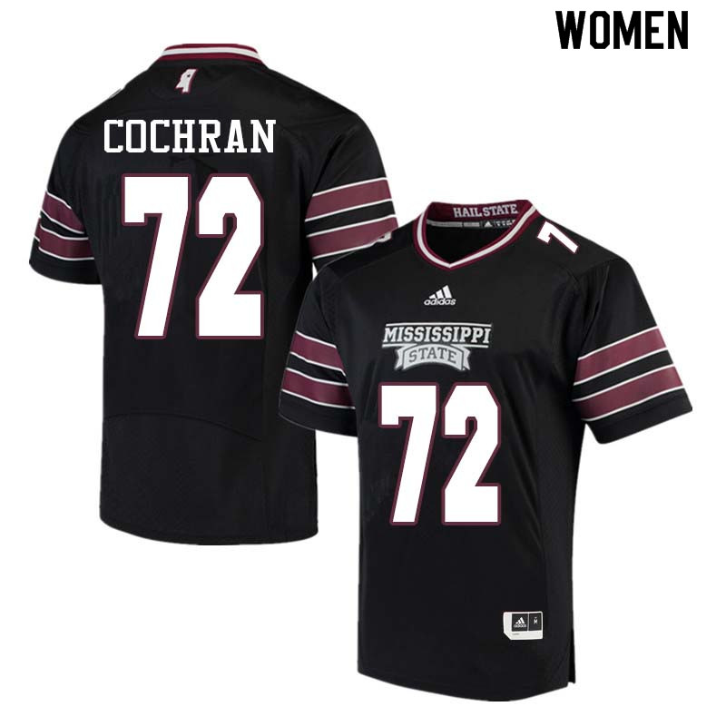 Women #72 Ronald Cochran Mississippi State Bulldogs College Football Jerseys Sale-Black