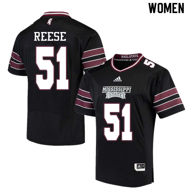 Women #51 Stewart Reese Mississippi State Bulldogs College Football Jerseys Sale-Black