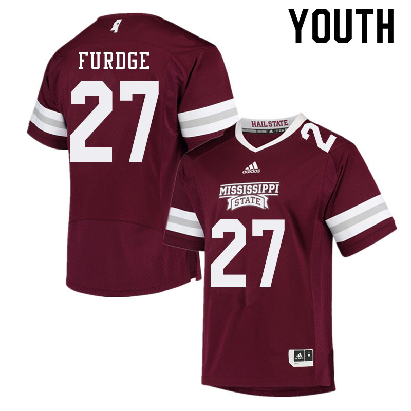 Youth #27 Esaias Furdge Mississippi State Bulldogs College Football Jerseys Sale-Maroon