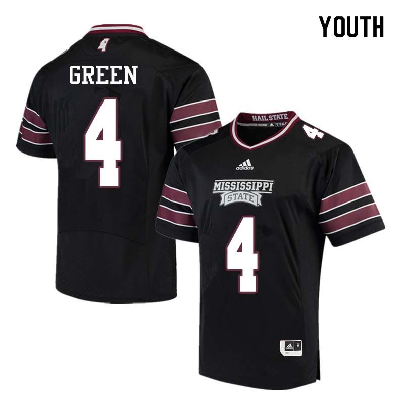 Youth #4 Gerri Green Mississippi State Bulldogs College Football Jerseys Sale-Black