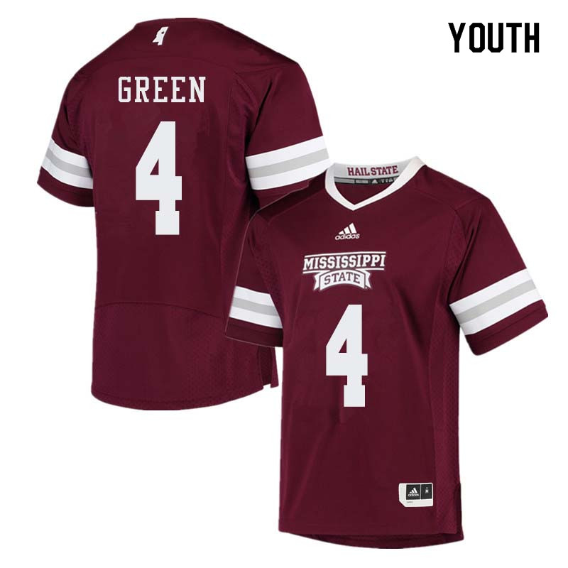 Youth #4 Gerri Green Mississippi State Bulldogs College Football Jerseys Sale-Maroon