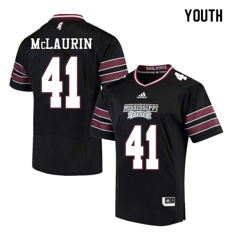 Youth #41 Mark McLaurin Mississippi State Bulldogs College Football Jerseys Sale-Black