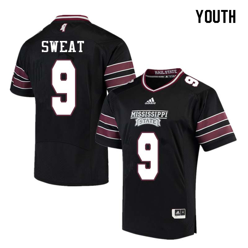 Youth #9 Montez Sweat Mississippi State Bulldogs College Football Jerseys Sale-Black