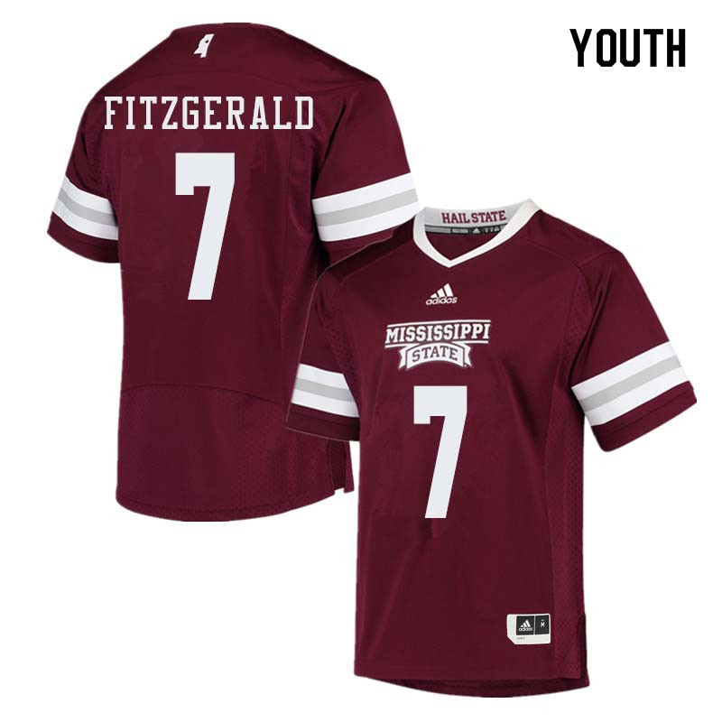 Youth #7 Nick Fitzgerald Mississippi State Bulldogs College Football Jerseys Sale-Maroon