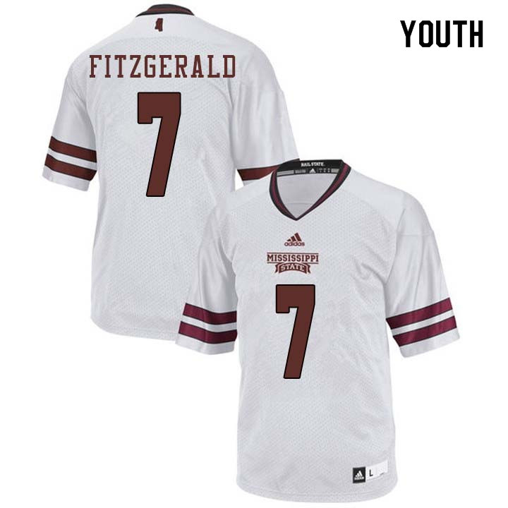 Youth #7 Nick Fitzgerald Mississippi State Bulldogs College Football Jerseys Sale-White