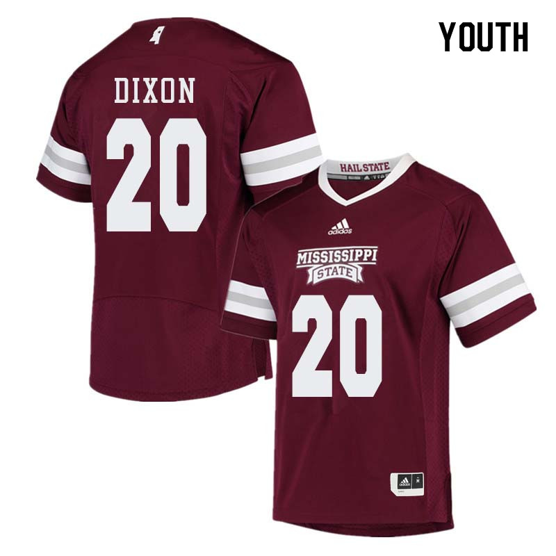 Youth #20 Taury Dixon Mississippi State Bulldogs College Football Jerseys Sale-Maroon